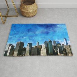 New York City, Blue Sky Rug