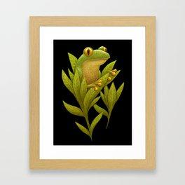 Frog Bloom Framed Art Print