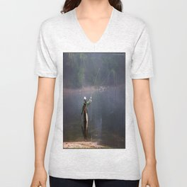 Misted Fly Fishing Unisex V-Neck