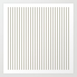 Pussy Willow Pinstripe on White Art Print