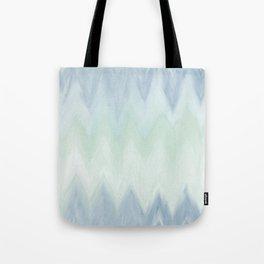 Modern geometrical pastel blue mint green watercolor ikat Tote Bag