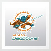 nfl Art Prints featuring Miami Degobans - NFL by Steven Klock
