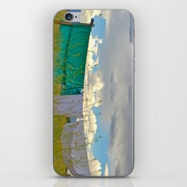 Goldenrod and Laundry Line iPhone Skin