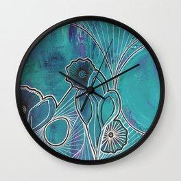 Walking into Spiderwebs Wall Clock
