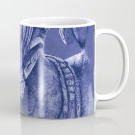 mayan nobleman blue Coffee Mug