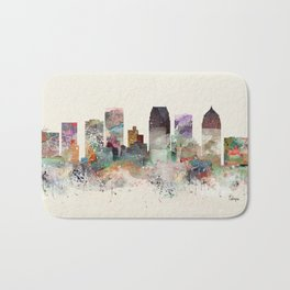 tampa florida skyline Bath Mat