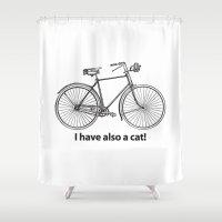 bike Shower Curtains featuring Bike by Dennis Spearman