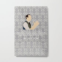 His Last Vow - Mycroft Holmes Metal Print