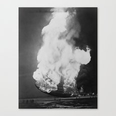 Hindenburg in flames Canvas Print