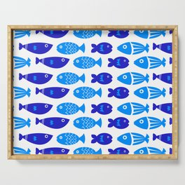 Blue Fish Serving Tray