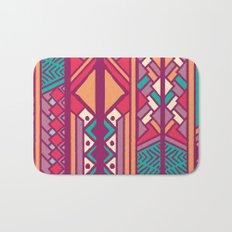 Tribal ethnic geometric pattern 001 Bath Mat