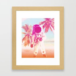Beach Astronaut Framed Art Print