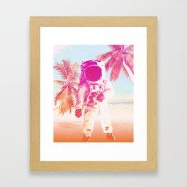 Beach Astronaut Framed Art Print