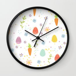 Easter Pattern Wall Clock