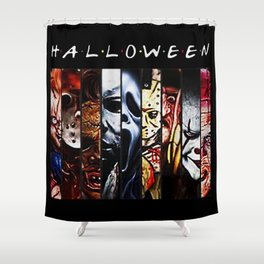 Horror Characters Halloween Shower Curtain