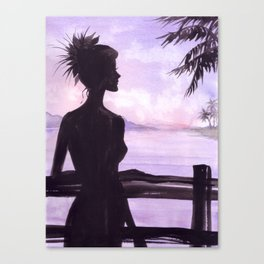 Girl on the Balcony Canvas Print
