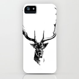 Interaction with deer iPhone Case