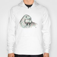 walrus Hoodies featuring Walrus by Ursula Rodgers