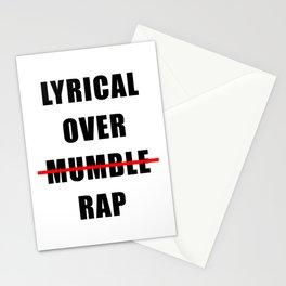 Lyrical Over Mumble Rap Stationery Cards
