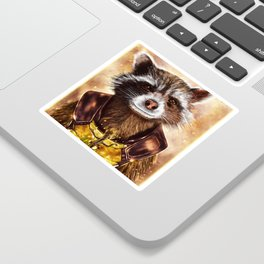 Rocket Raccoon and baby Groot from Guardians of the Galaxy Sticker