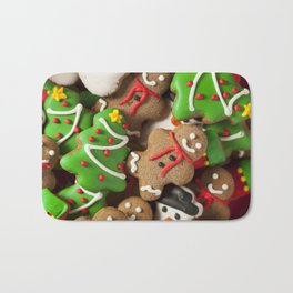 Delicious Christmas Cookies Bath Mat