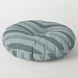 Night Watch PPG1145-7 Thick and Thin Angled Stripes on Scarborough Green PPG1145-5 Floor Pillow