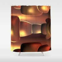 copper Shower Curtains featuring Copper Toned by Lyle Hatch