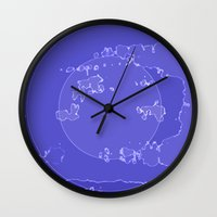 agate Wall Clocks featuring Agate by Audrey Erickson