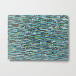 Nature Abstract In Turquoise Metal Print