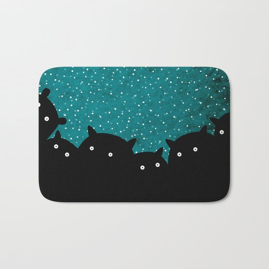 Squirrels by night #1 Bath Mat