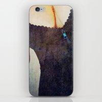 black widow iPhone & iPod Skins featuring Black Widow by Angela Pesic