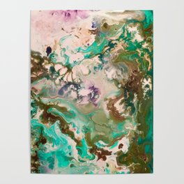 Abstract Acrylic Painting  Flood Poster