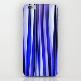 Peace and Harmony Blue Striped Abstract Pattern iPhone Skin