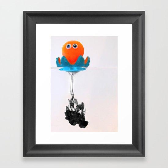 Octopus Ink Framed Art Print