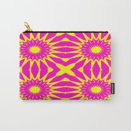 Flowers Pink & Yellow Carry-All Pouch