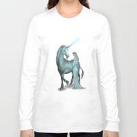 unicorn Long Sleeve T-shirts featuring Unicorn by Egberto Fuentes