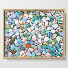 PEBBLES ON THE BEACH Serving Tray