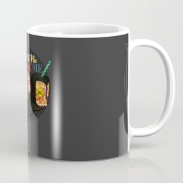 Eat me drink me Traditional Russian Matryoshka with black oil drink on sale Coffee Mug