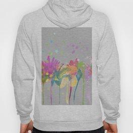 dp059-10 Watercolor flowers Hoody