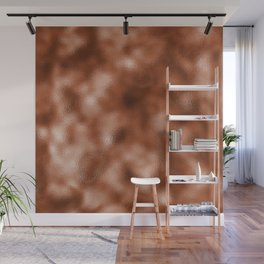 Mottled Copper Rose Foil Wall Mural