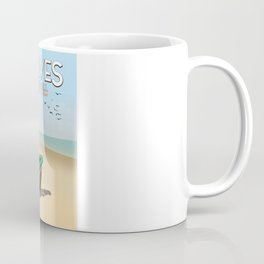 St Ives ,Cornwall ,beach travel poster, Coffee Mug
