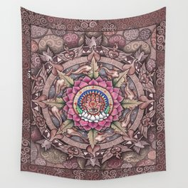 Hamsa Mandala by Julie Oakes Wall Tapestry