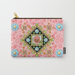 Pink Pansy Cottage Carry-All Pouch