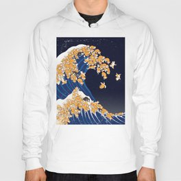 Shiba Inu The Great Wave in Night Hoody