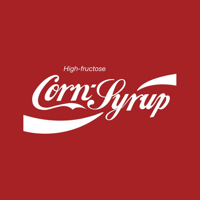 High Fructose Corn Syrup Duvet Cover