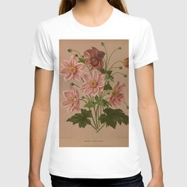 Flower anemone japonica rosea2 T-shirt