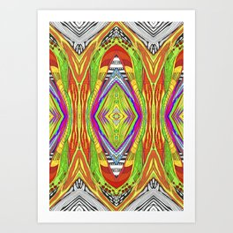 life pattern number 2 Art Print