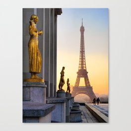 Sunrise in Paris France Canvas Print