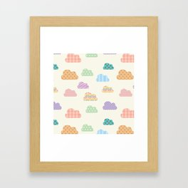 Colorful clouds Framed Art Print
