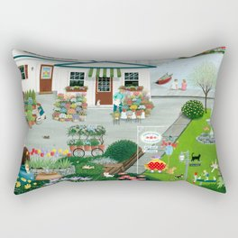 Purr-fect Blooms Rectangular Pillow